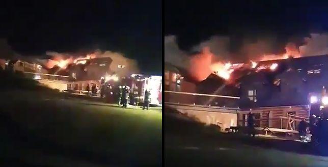 Istebna. Pożar wybuchły późnym wieczorem