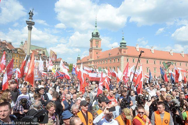 Marsz Suwerenności przeszedł ulicami Warszawy.