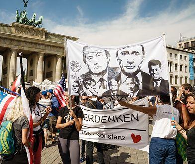 Koronawirus na świecie. Policja rozwiązała berlińską demonstrację przeciwko restrykcjom z powodu pandemii