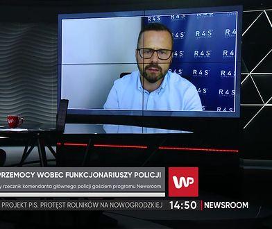 Mariusz Sokołowski pytany o interwencje policji i rosnącą brutalność
