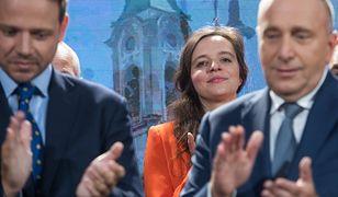 Klaudia Jachira podczas prezentacji warszawskich kandydatów Koalicji Obywatelskiej na posłów