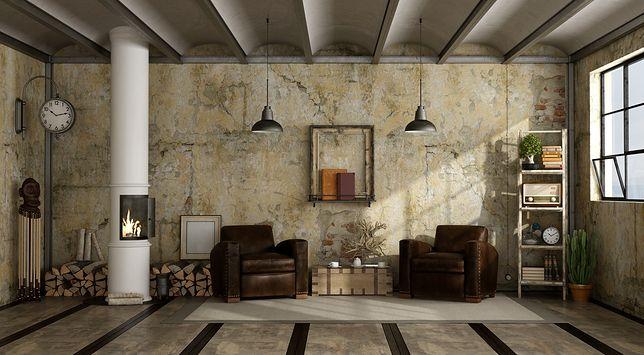Salon w stylu rustykalnym to wnętrze, w którym nie ma plastiku – elementy wyposażenia wykonane są z drewna, kamienia, skóry, żelaza, ceramiki i gliny