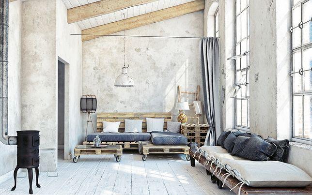 Salon w stylu rustykalnym jest wnętrzem, w którym króluje natura
