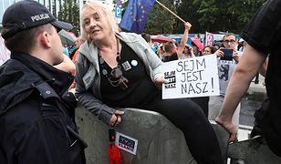 """Manifestacja przeciwników reformy sądownictwa pod hasłem """"Sejm jest nasz"""""""