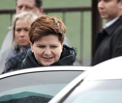 Limuzyna Beaty Szydło zderzyła się z fiatem seciento w lutym 2017 r.