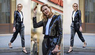 LOOK OF THE DAY: Karlie Kloss w cekinach Saint Laurent
