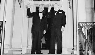 Prezydent USA Harry Truman i Winston Churchill w 1949 roku