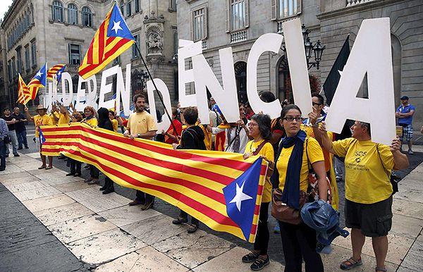 Zwolennicy niepodległej Katalonii