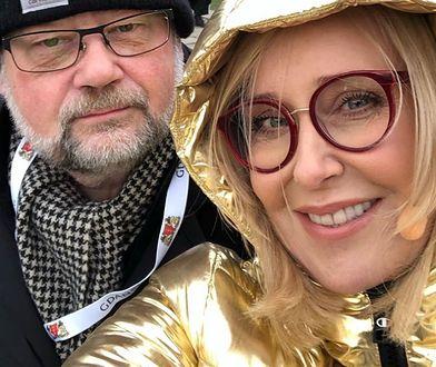 Piotr Adamowicz i Agata Młynarska podczas WOŚP 2020