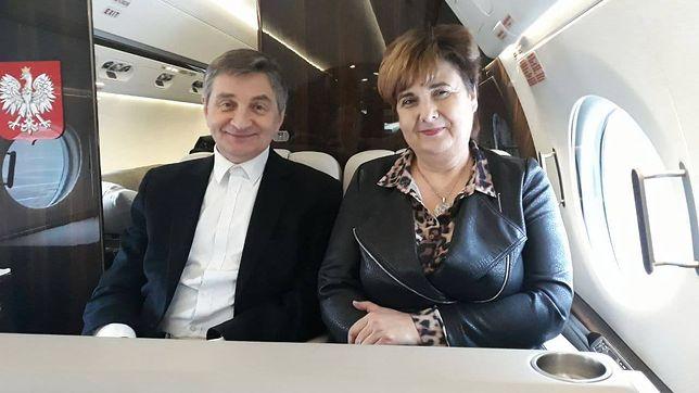 Krystyna Wróblewska, Marek Kuchciński i Stanisław Piotrowicz polecieli do Rzeszowa rządowym samolotem