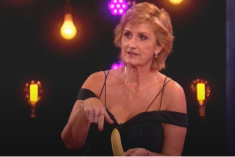 54-latka na wizji wzięła banana do ręki. Nie wierzyli, że to zrobi