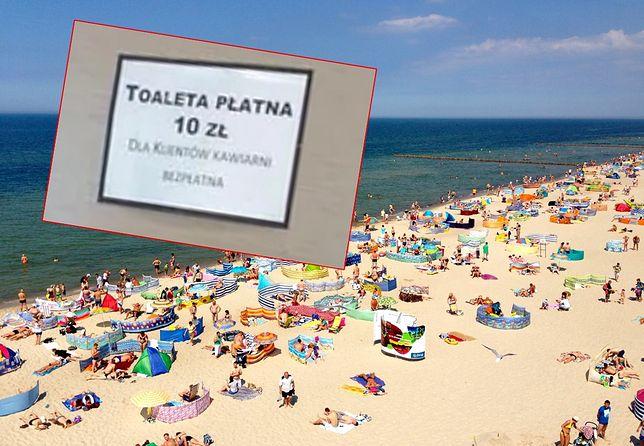 """Ceny nad Bałtykiem. 10-20 zł za WC to nie jest rzadkość. """"Niektórzy traktowali nasz bar jak szalet"""""""