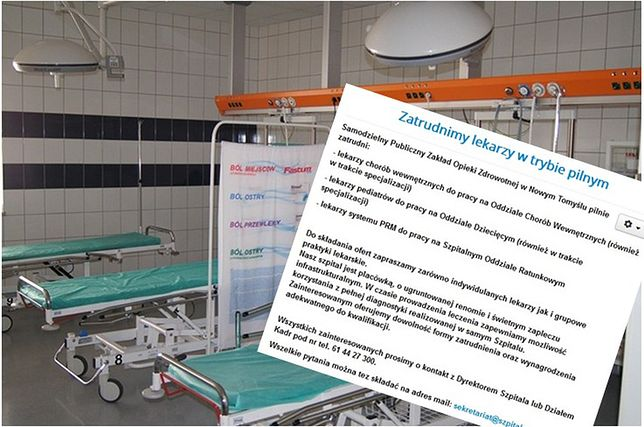 Brak lekarzy pogrąża kolejne oddziały polskich szpitali. Mogą nie wytrzymać miesiąca
