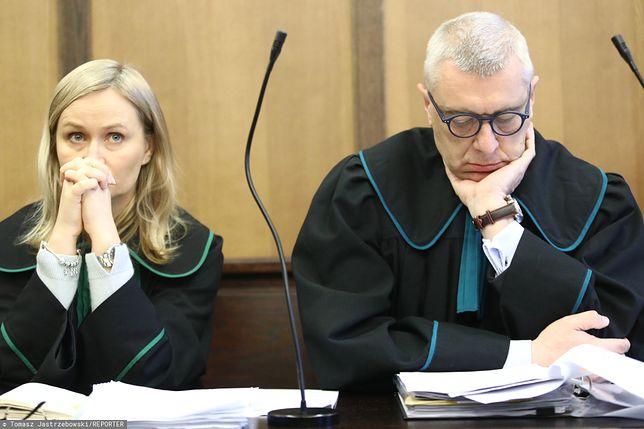 Roman Giertych i Barbara Giertych w sądzie (zdj. arch.)