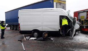 A2: wypadek w okolicach miejscowości  Szczawin