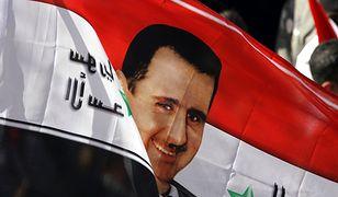 Wizerunek Baszara al-Asada na syryjskiej fladze