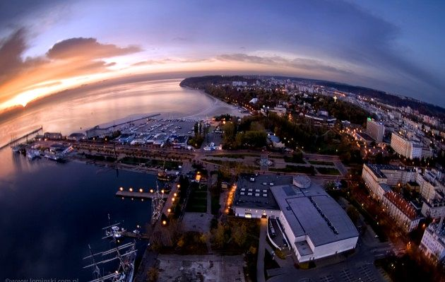 Panorama Gdyni z Sea Towers