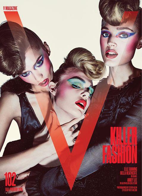 "Elle Fanning, Abbey Lee Kershaw i Bella Heathcote w sesji dla ""V Magazine"""