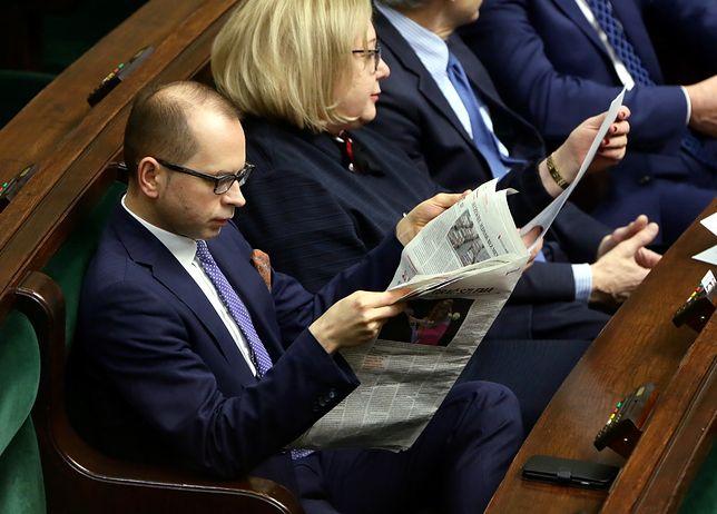 Poseł Szczerba na posiedzeniu obrad Sejmu