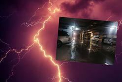 Burza w Warszawie. Zalane ulice, podtopione parkingi