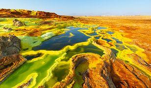 Dallol, to jedno z najbardziej ekstremalnych środowisk na Ziemi