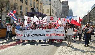 Demonstracja frankowiczów