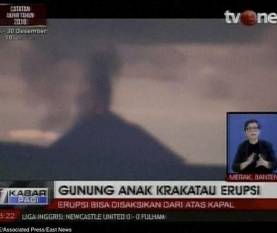Co najmniej 222 osoby nie żyją po przejściu tsunami, które wywołała erupcja wulkanu Anak Krakatau