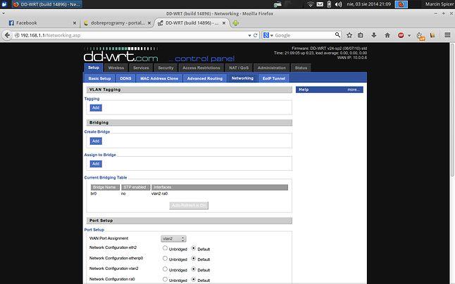 dd-wrt - robimy WAN z portów LAN