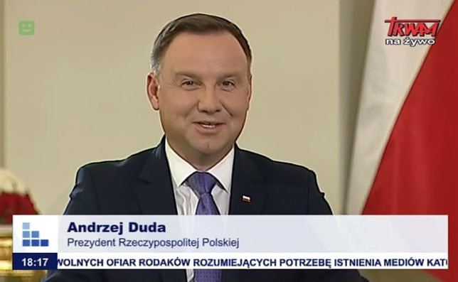 Andrzej Duda w telewizji Trwam