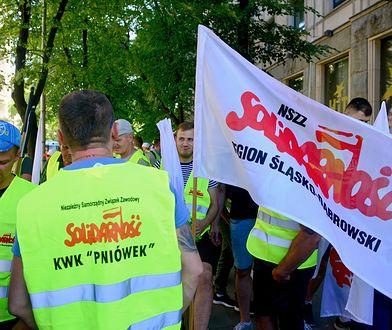 Manifestacja górniczych związków zawodowych Solidarność