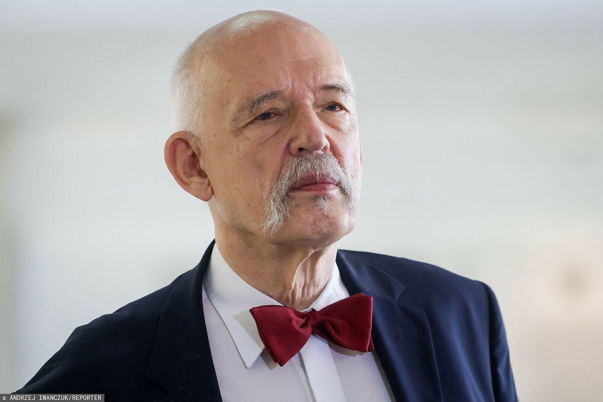 Janusz Korwin-Mikke ukarany. Chodzi o wpis dot. pedofilii i wypadków drogowych