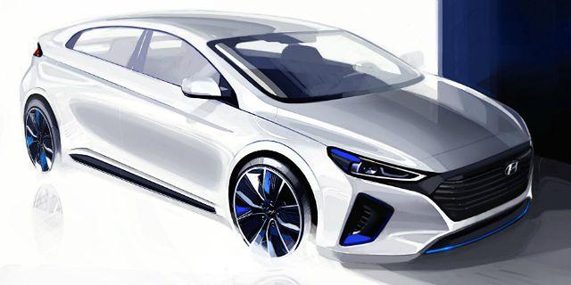 Pierwsze szkice Hyundaia Ioniq