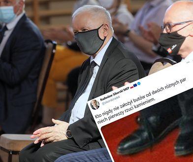 Obuwie Kaczyńskiego hitem internetu. Czy prezes PiS włożył dwa różne buty?