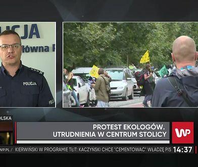 """Warszawa. Strajk klimatyczny. Rzecznik KGP: """"Sami protestujący chwalili działania policji"""""""