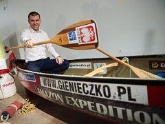 Polak ustanowił rekord Guinnessa w najdłuższej podróży canoe