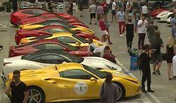 Kilkadziesiąt Ferrari przejechało przez Polskę