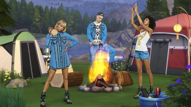 Fragment kolekcji Moschino X The Sims