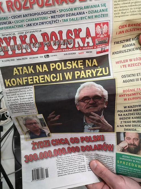 Antysemicka gazeta w Sejmie
