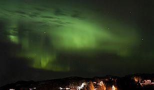 Zorza nad Trondheim