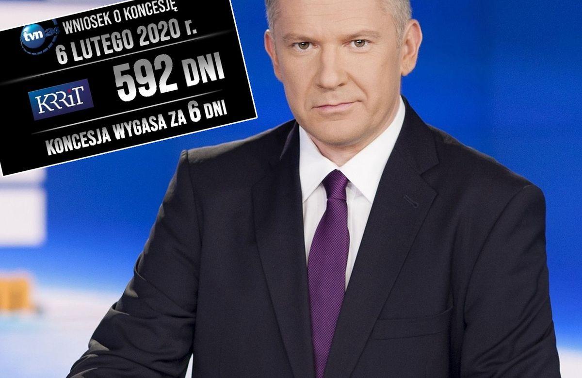 """Stacja TVN24 wciąż nie otrzymała nowej koncesji na nadawanie. Zostało 6 dni, o czym przypomniano w """"Faktach"""""""