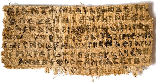 Fragment papirusu znany jako Ewangelia żony Jezusa