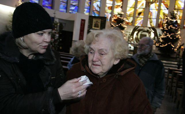 Łucja Bagińska w 2009 r. w 64. rocznicę zatopienia statku