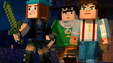 Niedaleko pada przygoda od Minecrafta: Story Mode wiele czerpie z pierwowzoru