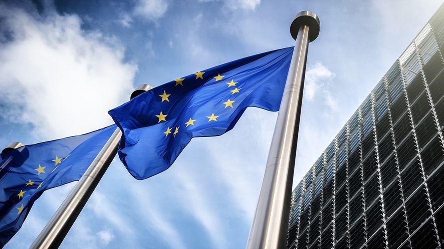 Flagi Unii Europejskiej z depositphotos