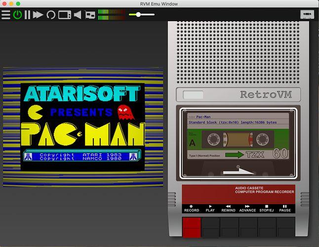 Wczytywanie gry na ZX Spectrum.