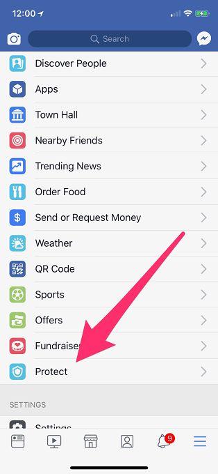 Propozycja instalacji Onavo w menu Facebooka w systemie iOS. Źródło: Tech Crunch