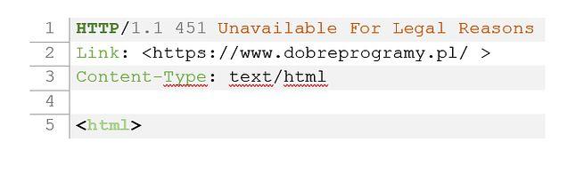 Być może niedługo serwery HTTP zaczną nam serwować inne błędy, niż 404...