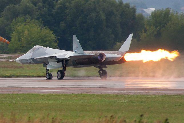 Su-57 to aktualnie najbardziej zaawansowany samolot bojowy Federacji Rosyjskiej