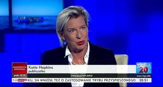 Znana ze skandali Katie Hopkins była gościem TVP Info