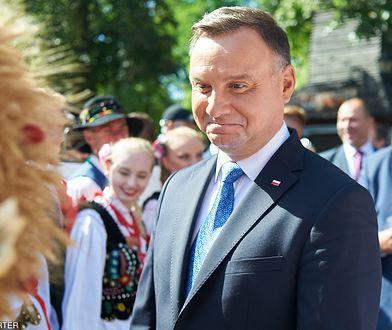 Dożynki prezydenckie 2019. Andrzej Duda w Spale